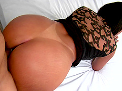 Beautiful Latina babe with a big ass gets fucked hardcore